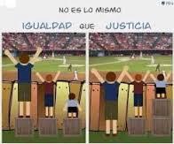 Equidad No es lo mismo igualdad que justicia